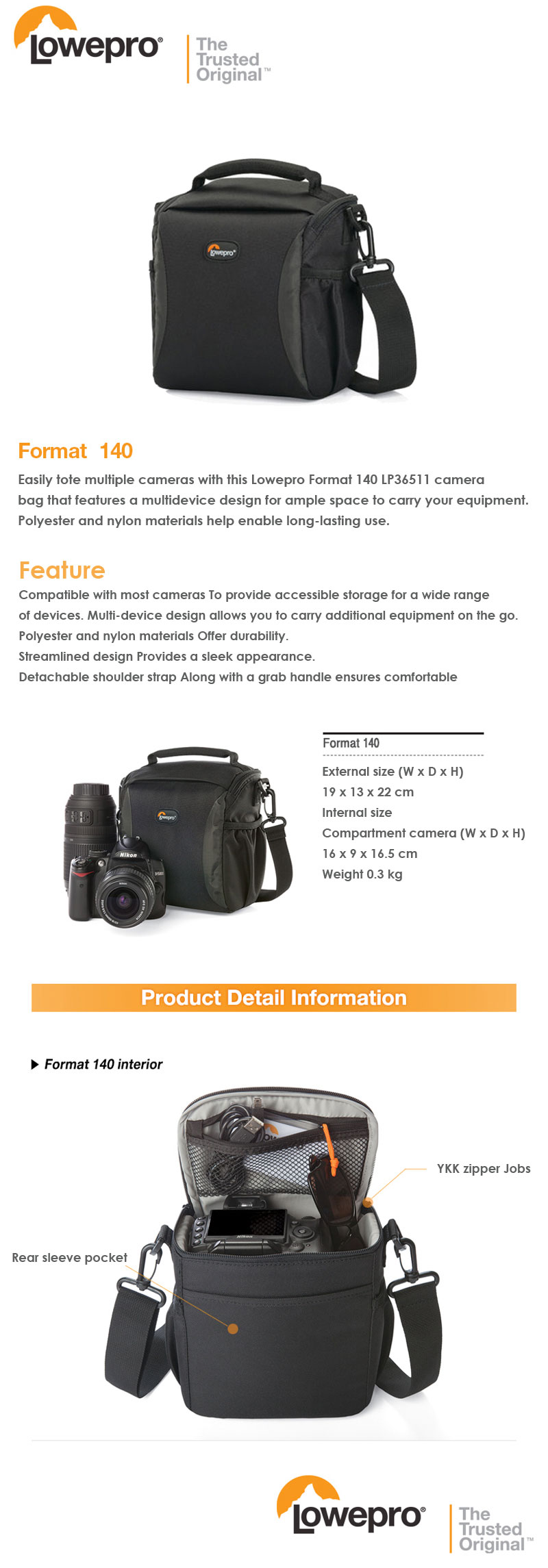 Every Need Want Day Lowepro Format 140 Camera Bag Adjustable Shoulder Strap Streamline Design Provide Superior Protection Carry Bags