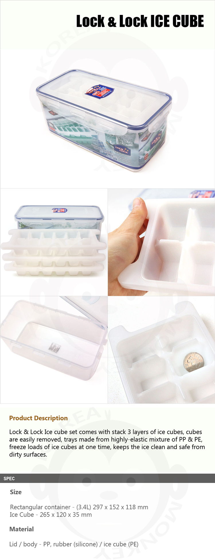 Locklock Food Container Hpl846 Rectangular Tall 3 4ltray Daftar Hpl808h 12l Lock Containers And Airtight In